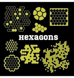 Hexagons - set vector image