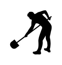 icon man digging vector image