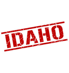 Idaho red square stamp vector