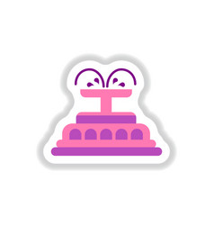 Label icon on design sticker collection fountain vector