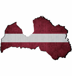latvia map with flag inside vector image