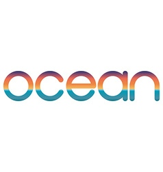Lettering ocean travel logo summer sunrise or vector image