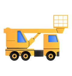 lifting truck icon cartoon style vector image