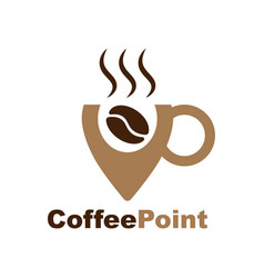 logo for coffee shop outline logotype with coffee vector image