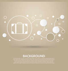 luggage icon on a brown background with elegant vector image