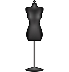 Mannequin or dressmakers dummy vector