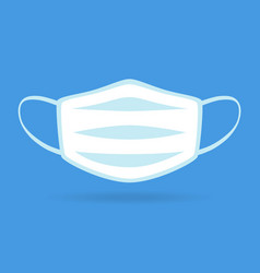 Medical white mouth guard mask vector