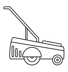 motor grass cutter icon outline style vector image