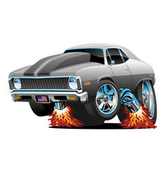 muscle car hot rod cartoon vector image