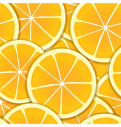 Orange segments seamless background vector image
