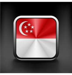 original and simple Republic of Singapore flag vector image