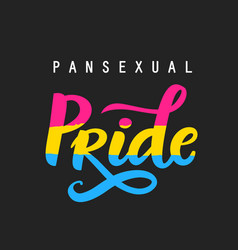 Pansexual movement pride hand written poster vector