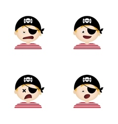Pirate facial expressions vector