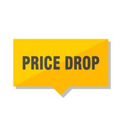 Price drop price tag vector