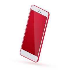 realistic smartphone mock up vector image