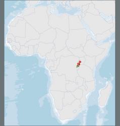 Republic rwanda location on africa map vector