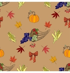 Seamless pattern Thanksgiving vector