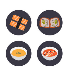 Set of japanese food vector
