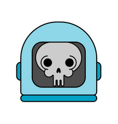 skull in space helmet dead space vector image