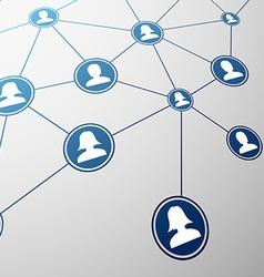 Social network Stock vector
