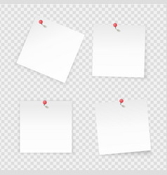 sticky notes paper stick notes isolated on vector image