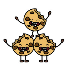 Sweet cookies cartoon vector