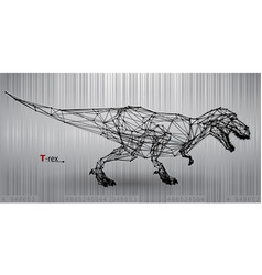 t-rex from triangles vector image