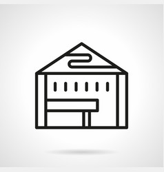 Tent for trade simple line icon vector