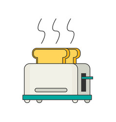 toaster flat icon vector image