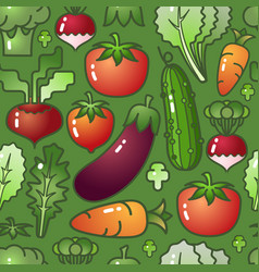 Vegetable isolated on green background vector