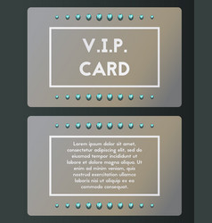 Vip visiting card with topaz luxury cutaway vector
