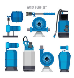 water pump system aqua treatment electronic steel vector image