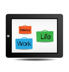 Work and life vector