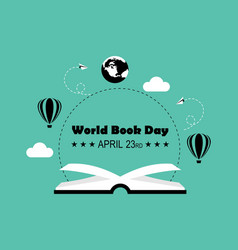 world book day logo vector image
