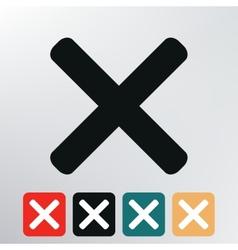 X icon vector image