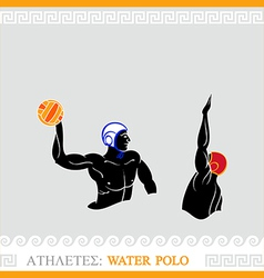 Athlete Water polo players vector image vector image
