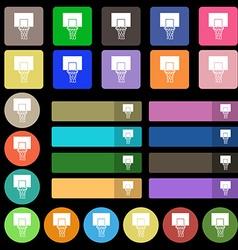 Basketball backboard icon sign Set from twenty vector image
