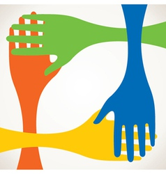 colorful hand stock vector image vector image