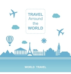 Famouse places Travel arround the world vector image vector image