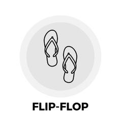 Flip-Flop Line Icon vector image
