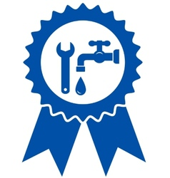 round icon with plumbing wrench vector image vector image