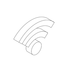 Wireless network icon isometric 3d style vector image