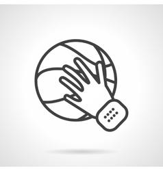 Play basketball black line design icon vector image