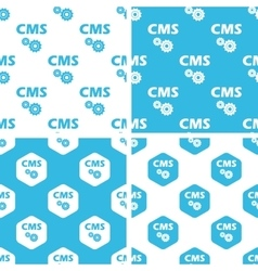 CMS settings patterns set vector image vector image