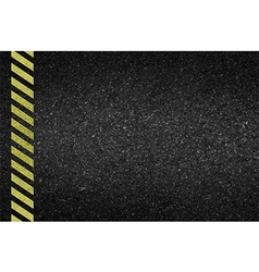 Danger arrows on asphalt texture vector image