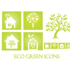 eco green icons vector image vector image