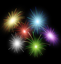 Firework set vector image vector image