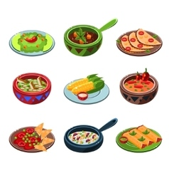 Mexican National Food Set vector image
