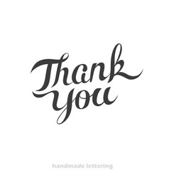 thank you - hand lettering card vector image