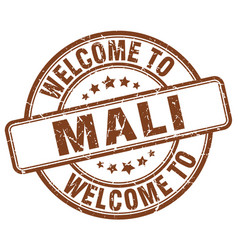Welcome to mali brown round vintage stamp vector